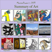 Summary of art 2011 by MarsmallowMe