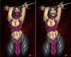 Commission: Mileena by Osmar-Shotgun