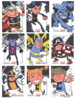 Marvel Universe Sketchcards 10 by thecheckeredman