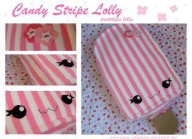 Candy Stripe Plushie Lolly by fuzzy-jellybeans