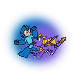 MegaLanders: Mega Man and Spyro by AtomicPhoton