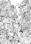 Fall of Cybertron fan art lineart by GoddessMechanic