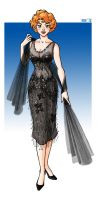 that Black Beaded Dress by Teremiao
