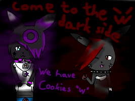 .:Akito and Nightey dark side and cookies:. by AkitoBlackNightmare