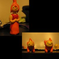 Adventure Time: Flame Princess and Flame Babies by Spaz-Twitch11-15-10