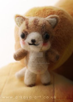 hand felted cat by arkaya