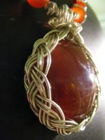 celtic carnelian by BacktoEarthCreations