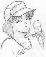 Ami and an icecream by EcchiRhino