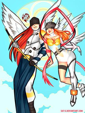 Angemon and Angewomon by sat-s