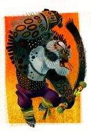 Raging Tai Lung by galgard
