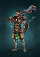 Jungle Warrior - Character design by ChuchuaN