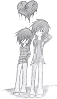 C cute emo sketch by CrazyMadHatterXP