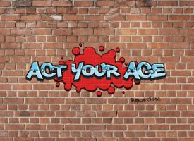 Grafiti Act your age by parejascpfans