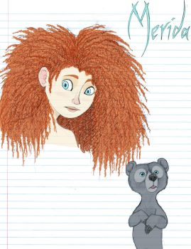 BRAVE -- Merida and Bear Cub by Graystripe64