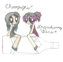Champagne and Strawberry Wine by mandythebat
