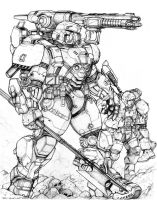 RIFTS NG Midas Power Armor by ChuckWalton