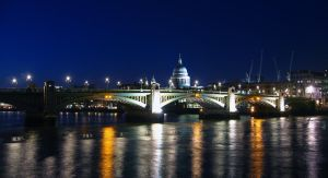 St. Paul and Southwark Bridge by locked-inside