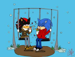 Date at the Park AT :Foxyz-sonadowlover: by GirlinLuvAnime