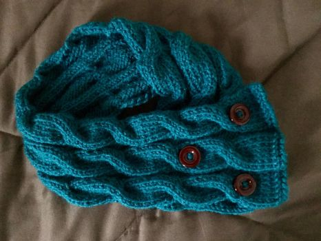 My Cabled Cowl by JBcrochetwizard