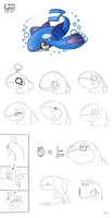 Kyogre Doodles by SpinoOne