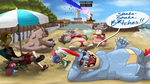 B2 Nuzlocke - Chillin' at Olivine Beach by Tanooki128