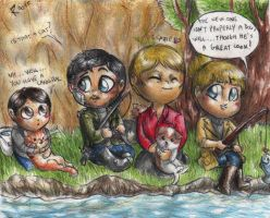 Hannibal - Fishing family by FuriarossaAndMimma