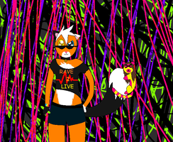 Lazer lights and furry critters by lemur97