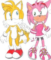 Tails x Amy by BlueSpeedsFan92