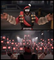 TF2: Holy Dispensers ( B'day gift ) by Bielek