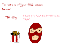 Fried Chicken Valentine by Rabidfangirl411