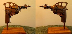 Steampunked Retro Raygun by zimzim1066