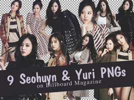 [PNG] 9 Yuri and SeoHuyn PNGs on Billboard by SammyYun