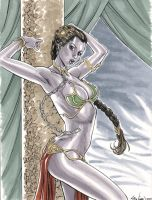 Star Wars Slave Leia Commission 02 by John-Stinsman