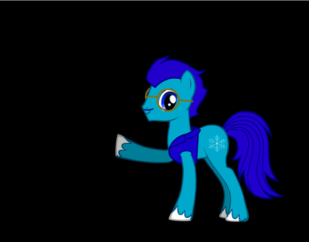 Icey Axe (pointing with right hove and smilein by IceyAxe