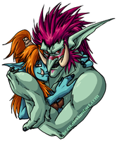 WoW - Troll Couple by kozu