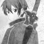Kirito Drawing by Bella-nutella1223