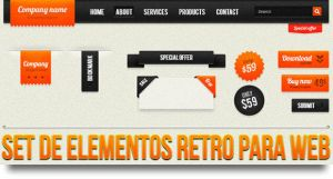 Retro web elements by Arcandres