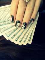 Card Manicure by NailedItWithGlitter