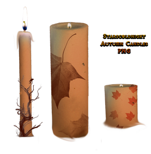Autumn candles PNG by StarsColdNight