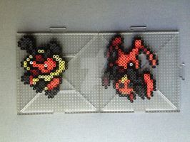 #401-#402 Kricketot and Kricketune Perlers