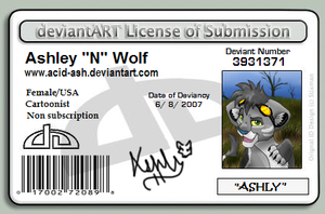 deviantLICENSE by PlushPaws