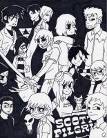 Scott Pilgrim vs. The Collage by WryFighter