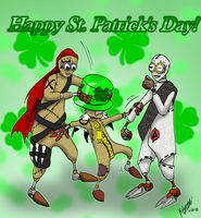 St.Patricks Day with the Sibs by VampiricYoshi
