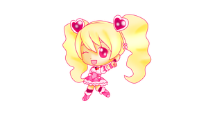Cure Peach Chibi by 4cherryjuice