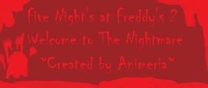 FNaF 2 story - Continues by Animeria