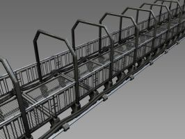 steel walk way model by Buchio