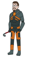 Gordon Freeman Vector by pikmin789