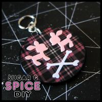 HARD CANDY Dead Doe Handmade Wooden Keychain by SugarAndSpiceDIY
