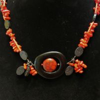 Commission: Earth's Core Necklace by SadiesAccessories