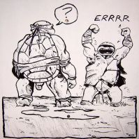 B and W TMNT by YourFathersMustache